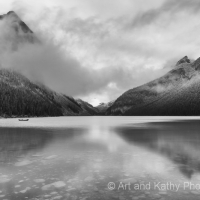 Lake Louise Morning Fog
