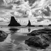 Bandon Beach and Storm Clouds