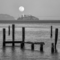 Full Moon Over Alcatraz