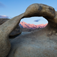 Mobius Arch & Mount Whitney