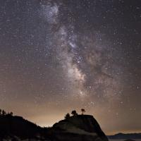 Milky Way Over Bonsai Rock