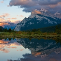Mt. Rundle Vermillion Lake