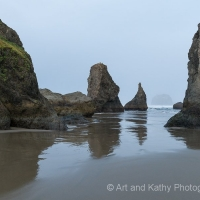 Bandon Beach in Fog 2