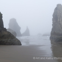 Bandon Beach in Fog 3