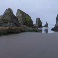 Bandon Beach in Fog 1