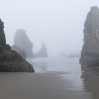 Bandon Beach in Fog 3